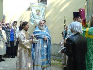 о. Виктор на крестном ходе. Престольный праздник