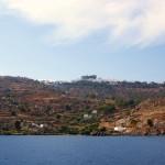 Патмос. Вид с моря на главный монастырь острова
