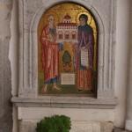 Патмос. Мозаика на стене монастыря Апостола Иоанна