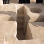 Купель для крещения в виде креста