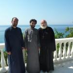 Послушник Николай, о.Даниил и о.Виктор - встреча спустя год