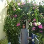 о. Даниил в райских монастырских садах Миртиотиссы