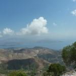 Вид с г. Пантократор, самой высокой точки острова