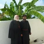 О. Виктор и о. Даниил в чертогах Богоматери Миртиотиссы.