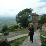 В монастыре Некреси на горе над Алазанской равниной в Кахетии