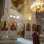 Храм Мартвильской иконы Божией Матери. Вид от келии св. Давида Строителя